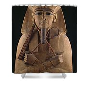 A Wooden Coffin Case Of The Pharaoh Shower Curtain
