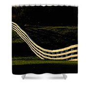 A Wooden Fence At The Shaker Village Shower Curtain