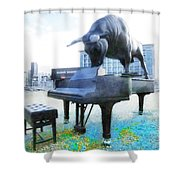 A World Of Art And Music Shower Curtain