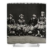 A Young Group Of Well Dressed Nepali Shower Curtain