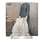 A Young Widow Shower Curtain