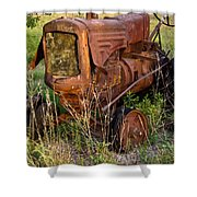 Abandonded Farm Tractor 1 Shower Curtain