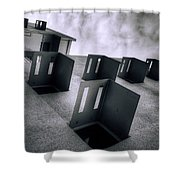 Abandoned Cities Of The Mind Shower Curtain