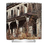 Abandoned Dilapidated Homestead Shower Curtain