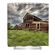 Abandoned Farm Buildings Saskatchewan Shower Curtain