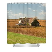 Abandoned Farmhouse In Field 2 Shower Curtain