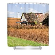 Abandoned Farmhouse In Field 4 Shower Curtain