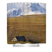 Abandoned Farmhouse Outside Of Waterton Shower Curtain