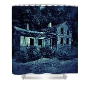 Abandoned House At Night Shower Curtain