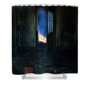 Abandoned House On Fire Shower Curtain