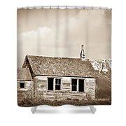 Abandoned Montana Shcoolhouse Shower Curtain
