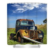 Abandoned Rusty Truck Shower Curtain