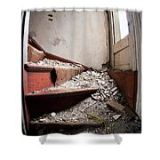 Abandoned Stairs Shower Curtain