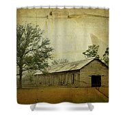 Abandoned Tobacco Barn Shower Curtain by Carla Parris