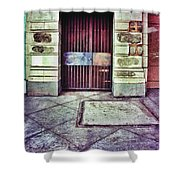 Abandoned Urban Building Shower Curtain