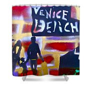 Abbott Kinney 2 Shower Curtain