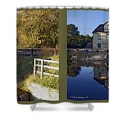 Abbotts Pond - Gently Cross Your Eyes And Focus On The Middle Image Shower Curtain