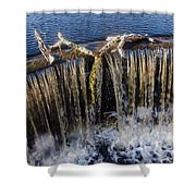 Abbotts Pond Falls Shower Curtain