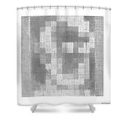 Abe In Negative Black And Grey Shower Curtain