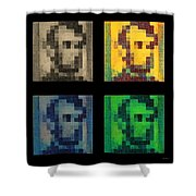 Abe In Quad Colors Shower Curtain