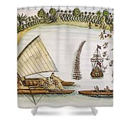 Abel Tasman Expedition 1643 Shower Curtain