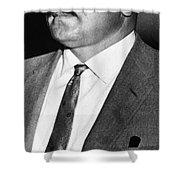 Abel Trial: Reino Hayhanen Shower Curtain