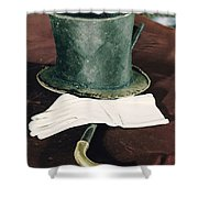 Aberaham Lincolns Hat, Cane And Gloves Shower Curtain
