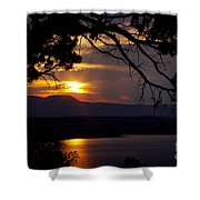 Abiquiu Sunset Shower Curtain