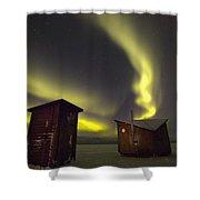 Abisko, Sweden. The Abisko Ark Hotel Shower Curtain