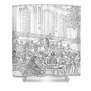 Abolition Cartoon, 1859 Shower Curtain