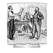Abolitionist Newspaper Shower Curtain