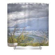 Above Chattanooga Shower Curtain