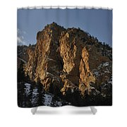 Above Red River I Shower Curtain