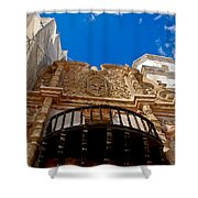 Above The Front Entry San Xavier Mission Shower Curtain