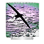 Above The Waves Shower Curtain