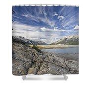 Abraham Lake Created By Bighorn Dam Shower Curtain