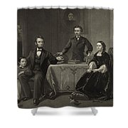 Abraham Lincoln And Family Shower Curtain