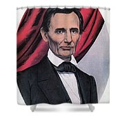 Abraham Lincoln, Republican Candidate Shower Curtain by Photo Researchers