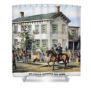 Abraham Lincolns Home Shower Curtain