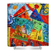 Abs 0439 Shower Curtain