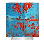 Abstrac Texture Of The Paint Peeling Iron Drum Shower Curtain