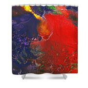 Abstract - Crayon - Andromeda Shower Curtain