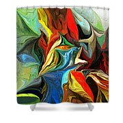 Abstract 021712 Shower Curtain