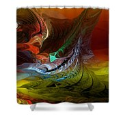 Abstract 022712 Shower Curtain