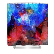Abstract 032812a Shower Curtain
