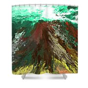 abstract 082511A Shower Curtain