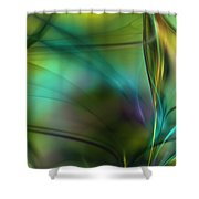 Abstract 090711a Shower Curtain