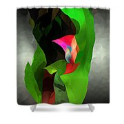Abstract 091912a Shower Curtain