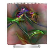 Abstract 101211b Shower Curtain