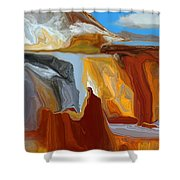 Abstract  101311b Shower Curtain